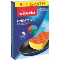 Estropajo Colors VILEDA, pack 4 unid.