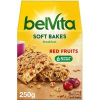 Galleta Belvita tierna de frutos rojos FONTANEDA, bolsa 250 g