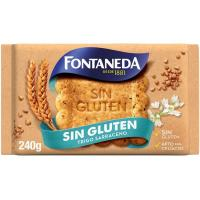 Galleta Cuidate Trigo Sarrac. s/ gluten FONTANEDA, paquete 240 g