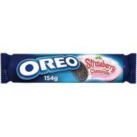 Galleta de chocolate rellena de fresa OREO, paquete 154 g