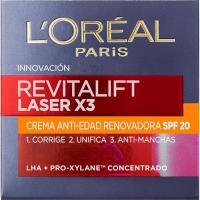 Crema facial de día SPF20 L`OREAL Revitalift Láser, tarro 50 ml