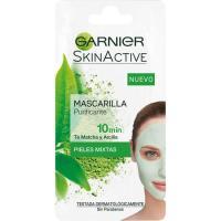 Matcha Mask verde purificante piel mixta SKIN ACTIVE, sobre 8 ml