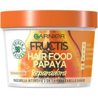 Mascarilla cabello dañado papaya FRUCTIS, tarro 390 ml