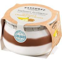 Yogur ecológico de plátano-galleta EL PASTORET, tarro 135 g
