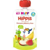 Bolsita de manzana-plátano-fresa HIPP, doypack 100 g