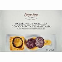 Hojaldre crema de morcilla-compota manzana CAPRICE, caja 210 g