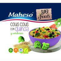 Cous cous de verduras-quinoa MAHESO, caja 300 g