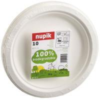 Plato compostable de pulpa de celulosa NUPIK, 17cm, 10uds