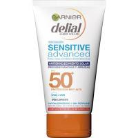 Crema facial solar antiedad p/ sensible FP50 DELIAL, tubo 100 ml