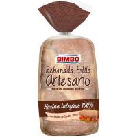 Pan rebanada artesana integral BIMBO, paquete 550 g