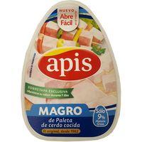 Magro de paleta cerdo cocida con tapa APIS, lata 190 g