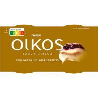 Yogur griego de tarta de arándanos OIKOS, pack 2x110 g