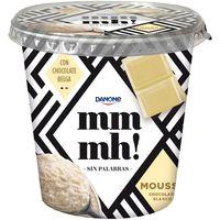 Mousse de chocolate blanco MMMH DANONE, tarrina 200 g