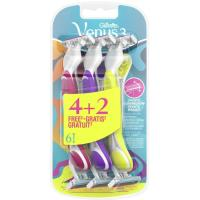 Maquinilla desechable Simply 3 plus VENUS, pack 4+2 unid.