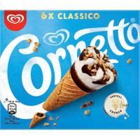 Cono clásico CORNETTO,6 unid., caja 360 g