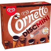 Cono discmini coco-avellana-cookie CORNETTO, caja 216 g