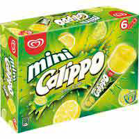 Helado mini limón CALIPPO, pack 6x80 g