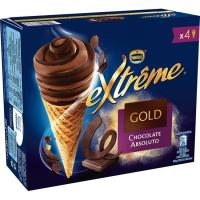 Cono Extreme Gold Absoluto NESTLÉ, pack 4x70 g