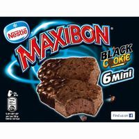 Maxibon mini Cookie Black NESTLÉ, 6 uds., caja 354 g