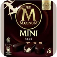 Bombón mini dark chocolate MAGNUM, 6 uds., caja 264 g