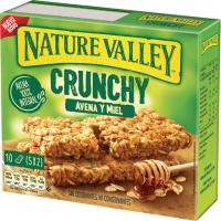 Barritas de avena-miel NATURE VALLEY, pack 5x42 g
