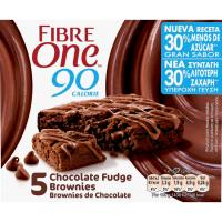 Barritas de brownie de chocolate FIBRE ONE, pack 5x24 g