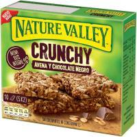 Barritas de avena-chocolate negro NATURE VALLEY, caja 210 g