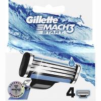 Cargador de afeitar GILLETTE Mach 3 Start, pack 4 unid.