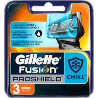 Cargador de afeitar GILLETTE Fusion Proshield Chill, pack 3 unid