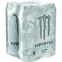 Energético ultra white MONSTER pack 4x50 cl