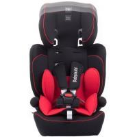 Silla auto Primus, grupo 123(de 9 a 36kg), color negro/rojo. Cabezal regulable en altura, adaptable al crecimiento del niño. Con colchoneta reductora y apoyabrazos. Desenfundable y lavable BABYAUTO