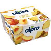 Preparado de soja-melocotón-piña ALPRO, pack 4x125 g