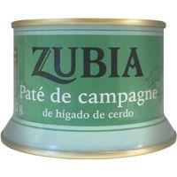 Paté de campagne ZUBIA, lata 135 g