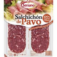 Salchichón de pavo CARNICAS SERRANO, bandeja 100 g