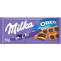Chocolate con oreo entera MILKA, tableta 92 g