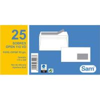Sobre blanco open 110x220 90gr ventana derecha SAM paquete 25uds