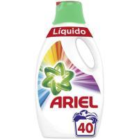 Detergente líquido color ARIEL, garrafa 40 dosis