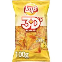 Snack sabor queso LAY`S Bugles 3D's, bolsa 100 g