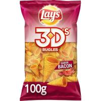 Snak sabor bacón LAY`S Bugles 3D's, bolsa 100 g