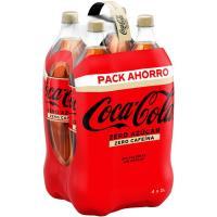 Refresco de cola COCA COLA Zero Zero, pack 4x2 litros