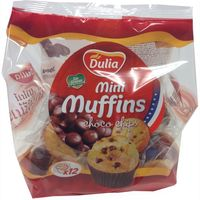 Minimuffins de choco chips DULIA, bolsa 300 g