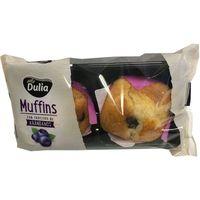 Muffins con arándanos DULIA, 2 unid., paquete 200 g