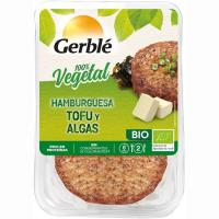 Hamburguesa vegetal de tofú-algas GERBLÉ BIO, bandeja 160 g