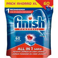 Lavavajillas máquina FINISH Todo en 1, bolsa 60 dosis