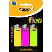 Encendedor Bic fluo  BIC, pack 3uds