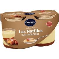 Natillas con caramelo GOSHUA, pack 2x115 g