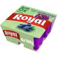 Gelatina antioxidante de arándanos 0% azúcar ROYAL, pack 4x100 g