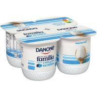 Yogur natural DANONE, pack 4x120 g