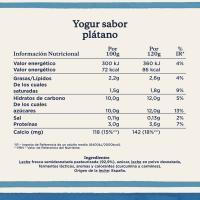 Yogur sabor a plátano DANONE, pack 4x120 g