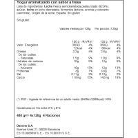 Yogur sabor a fresa DANONE, pack 4x120 g